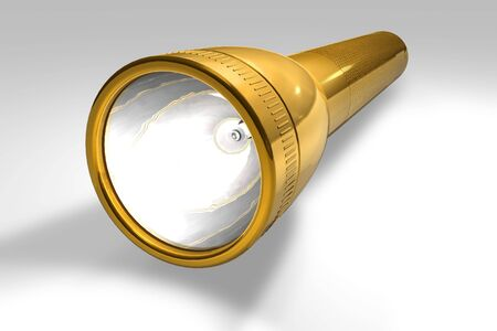 Golden flashlight Stock Photo - 6528617