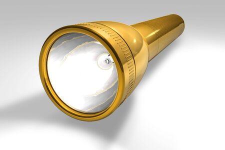 Golden flashlight Stock Photo - 6528617