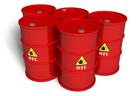 canister: Oil barrels Stock Photo