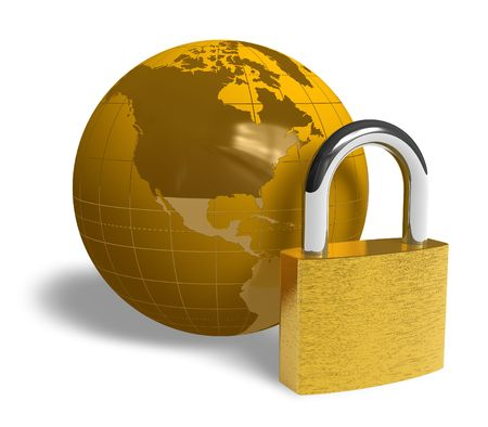internet security: Global security concept