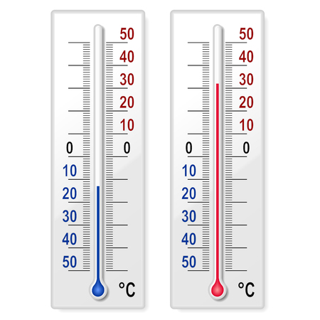coldness: Set of thermometers Illustration