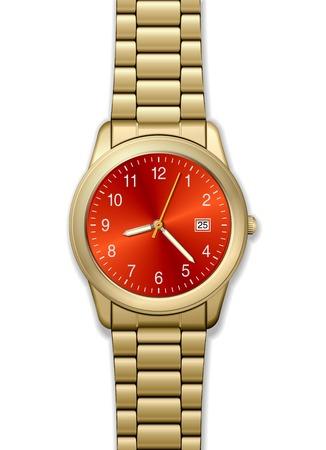 High-detailed golden watch Vector