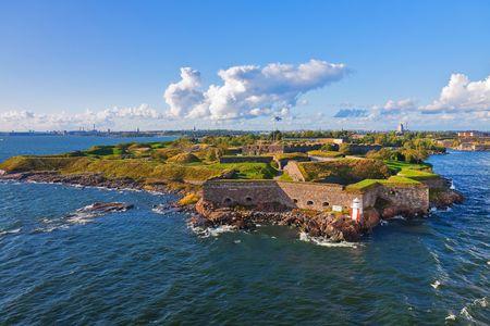 finland�s: Fortaleza de Suomenlinna en Helsinki, Finlandia.  Foto de archivo