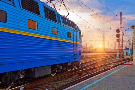 catenation: Sunset at the railway station