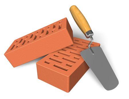 brick mason: Construction concept