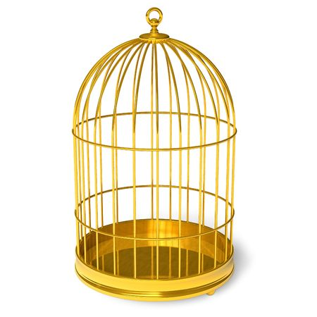 confined: Golden cage Stock Photo