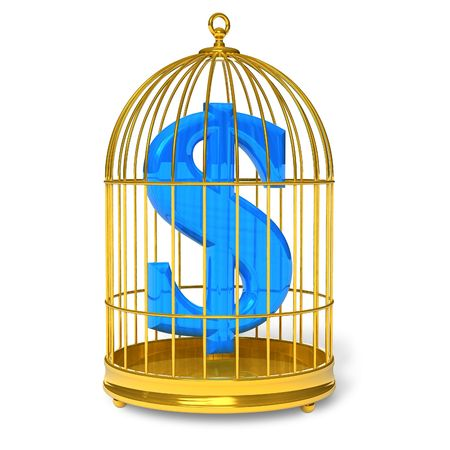 Dollar in cage photo