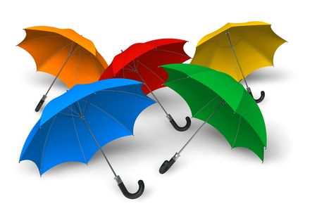 defending: Color umbrellas
