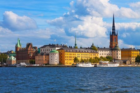 The Old Town in Stockholm, Sweden Stock Photo
