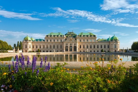 historical reflections: Belvedere Palace in Vienna, Austria