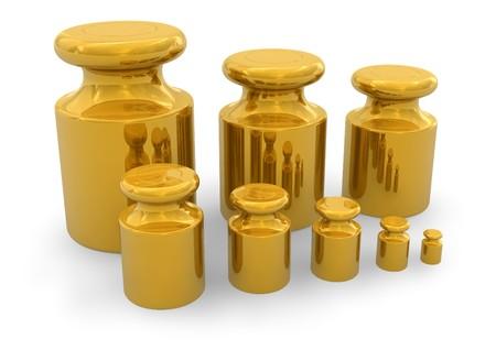 balanza de laboratorio: Conjunto de pesos para las escalas