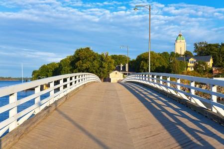 Bridge on Sveaborg island in Helsinki, Finland photo
