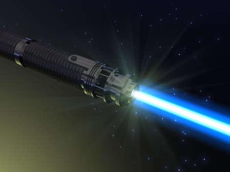 Blue light saber photo