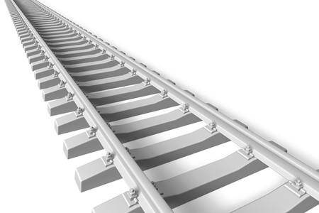 rail track: Railroad concept Stock Photo
