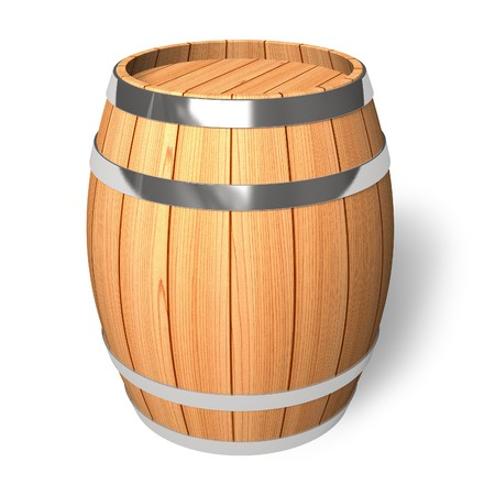 beer bucket: Wooden barrel