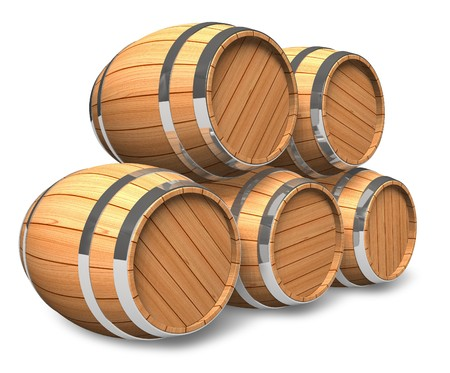 barrels set: Wine storage