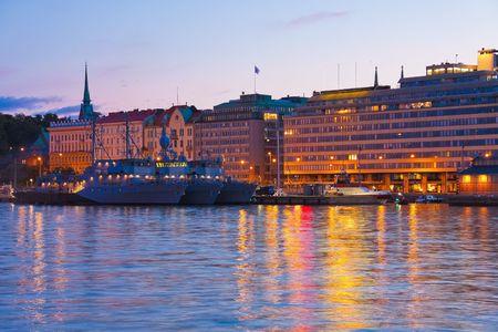helsinki: Evening scenery of Helsinki, Finland