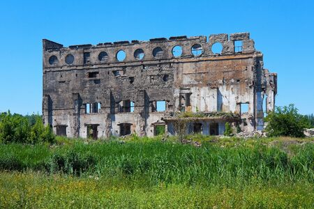 destructed: Ruined building