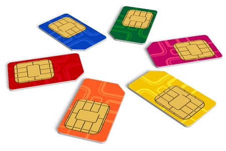 Circle from color SIM cards photo