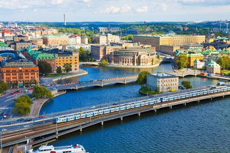Aerial panorama of Stockholm, Sweden photo