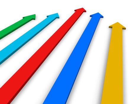 five objects: Frecce di colore