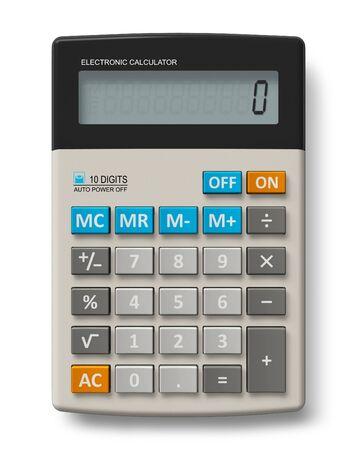 subtract: Office calculator Stock Photo