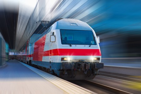 intercity: Modern high speed train