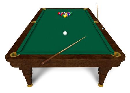 Billiard table photo