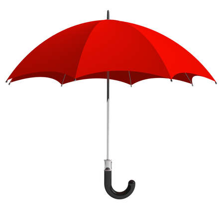 umbrella rain: Red umbrella
