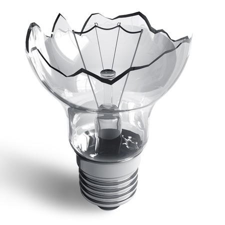 Broken lamp photo
