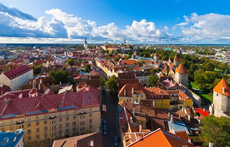 estonia: Panorama of Tallinn, Estonia