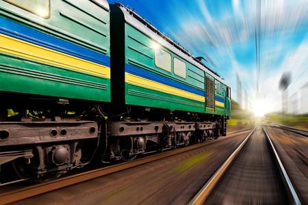 catenation: Railway journey towards the sunset