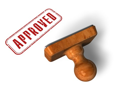 approval stamp: Approved stamp
