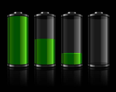 levels: Battery levels set Illustration