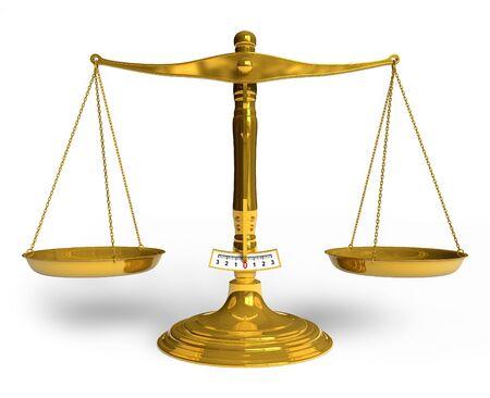 Golden scales Stock Photo - 7528370