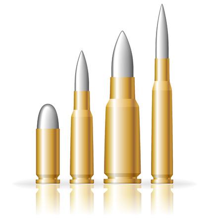 Set of bullets Vector