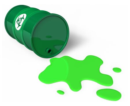 Spilled chemical barrel Stock Photo - 7648539