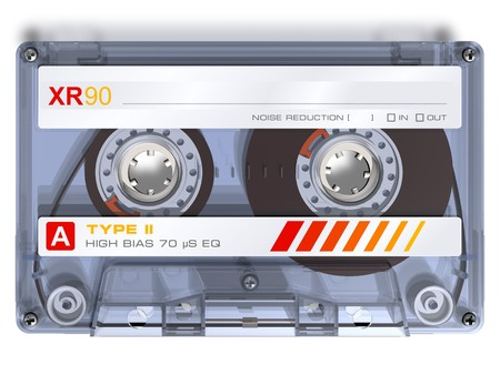 audio: Audio cassette Stock Photo