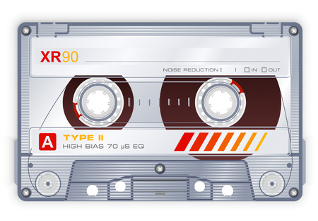 recorder: Audio cassette Illustration