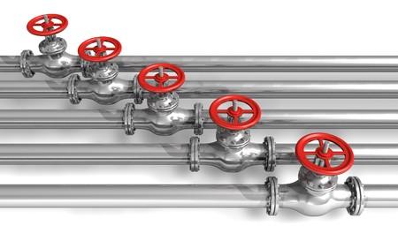 Pipeline with valves photo