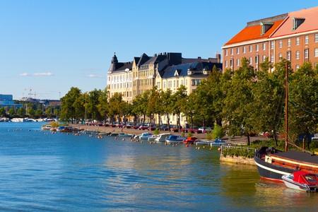 Summer cityscape of Helsinki, Finland