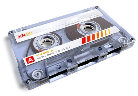 tape recorder: Audio cassette Stock Photo
