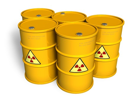 Radioactive barrels Stock Photo - 7844394