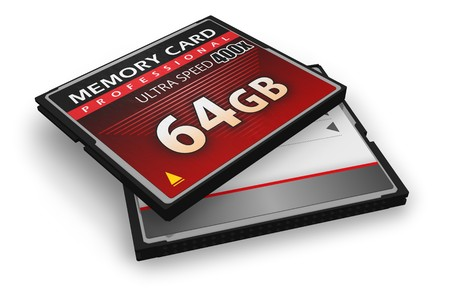 CompactFlash memory cards Stock Photo - 7844399