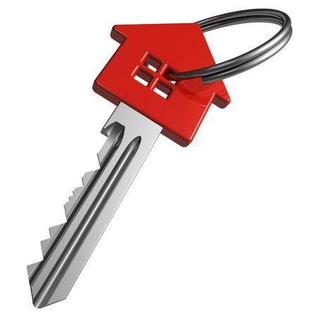 Red house-shape key Stock Photo - 7844430