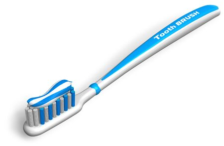 Tooth brush with toothpaste Stock Photo - 7844397