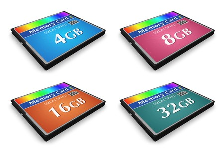 Set of CompactFlash memory cards Stock Photo - 7930050