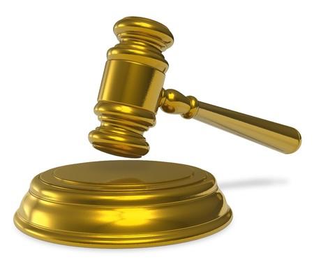 judge hammer: Golden mallet