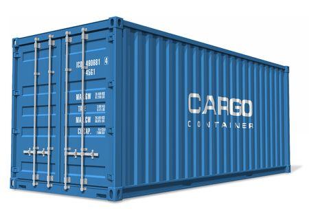 export and import: Contenedor de carga