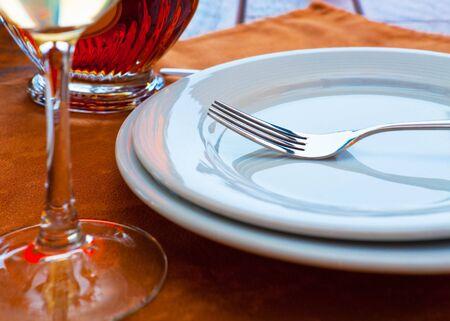 Served restaurant table. Shallow DOF photo